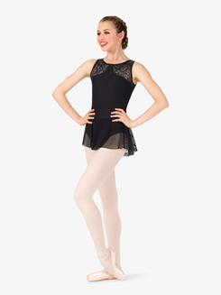 Womens Indira Rose Mesh Tank Ballet Dress