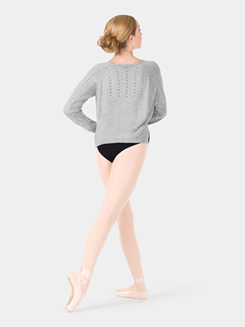 Adult Cozy Knit Hi-Lo Warm-Up Dance Sweater