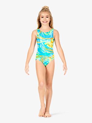 f685928d3f4 Girls Gymnastics   Mirage   Foil Tank Leotard - Style No GB131C