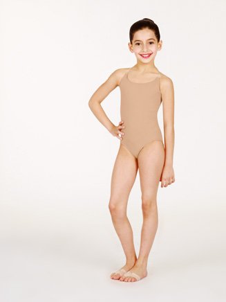 Child Camisole Leotard w/See-Through Straps - Style No 0266