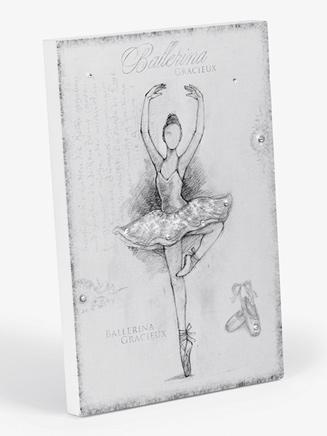 Ballerina Wooden Home Decor Plaque - Style No 10554