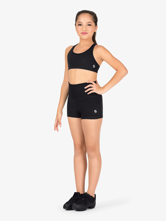 Girls Rolldown Athletic Shorts - Style No 1178G