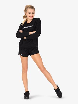 """Womens """"Play Up 2.0"""" Logo Printed Waistband Running Shorts - Style No 1292231"""