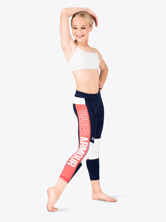 Girls Colorblock Crop Fitness Leggings - Style No 1301761x