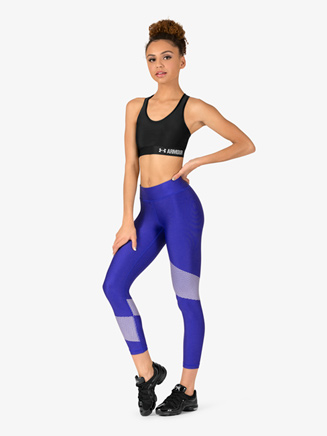 Womens Contrast Ankle-Length Fitness Leggings - Style No 1305429x
