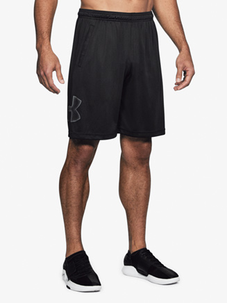 Mens Graphic Logo Fitness Shorts - Style No 1306443