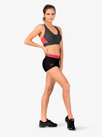 Womens HeatGear Logo Print Waistband Athletic Shorts - Style No 1309618