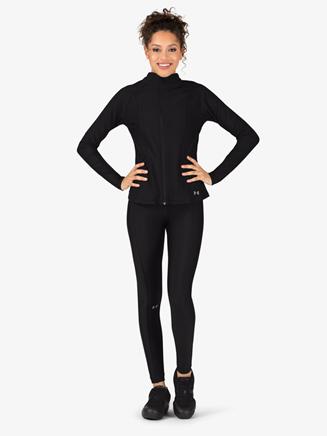 Womens Mock Neck Long Sleeve Workout Jacket - Style No 1314544x