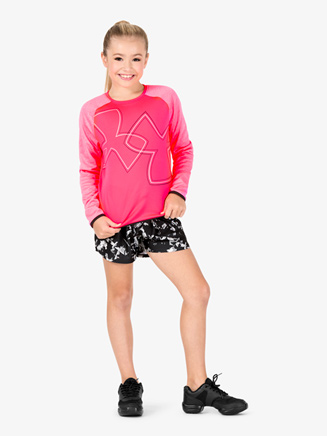 Girls Fleece Long Sleeve Workout Top - Style No 1317835x