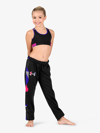 Girls Fleece Straight Leg Workout Pants - Style No 1317838