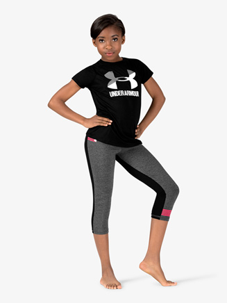 Girls Workout Soft Knit Capri Leggings - Style No 1320084x
