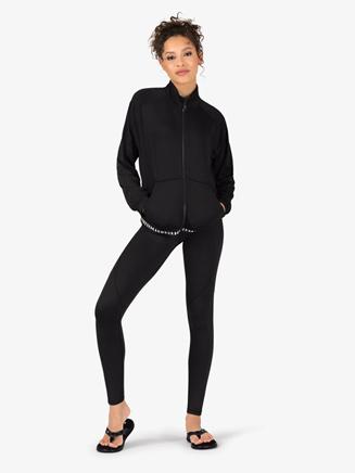 Womens Logo Print Full Zip Workout Jacket - Style No 1320589x