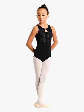 Girls Embroidered Strappy Back Tank Leotard - Style No 19123C