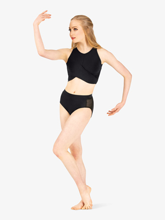 Womens Mesh Insert Dance Briefs - Style No 19402A