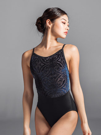 Womens Velvet Mesh Back Camisole Leotard - Style No 2129