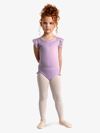 Girls Triple Bow Short Sleeve Leotard - Style No 2472C