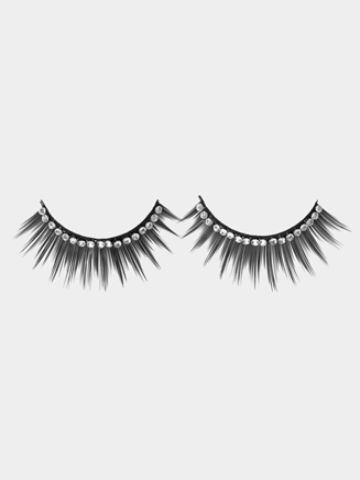 Rhinestone Eyelashes with Glue - Style No 2482