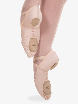 Girls Total Stretch Split Sole Ballet Shoes - Style No 248C