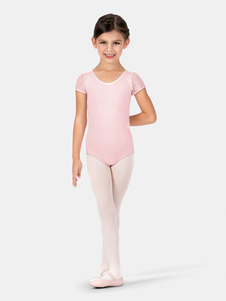 Child Mesh Puff Sleeve Leotard - Style No 3946C