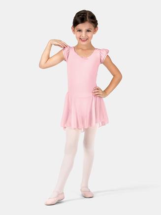 Child Flutter Sleeve Dress - Style No 3973Cx