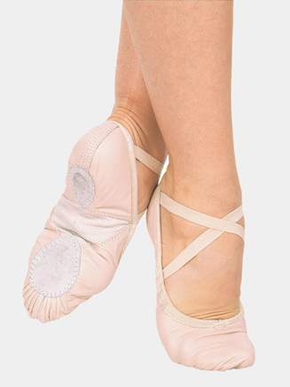 Adult Silhouette Leather Split-Sole Ballet Shoes - Style No 3AL
