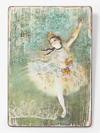 Contemporary Ballet Wooden Wall Plaque - Style No 66790