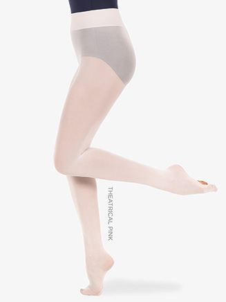 Womens Plus Size Wide Smooth Waist Convertible Dance Tights - Style No A41X