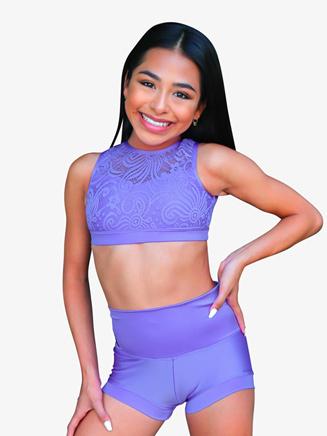 Womens Lace Back Cutout Dance Bra Top - Style No AA7000