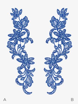 Swarovski Rhinestoned Flower Applique - Style No AOVO