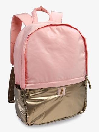 Pink Contrast Metallic Puffer Dance Backpack - Style No B466PK