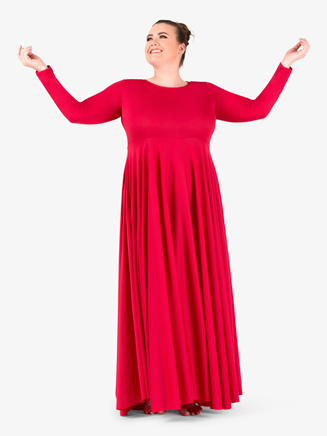 Womens Plus Size Circle Worship Dress - Style No BT5190Px