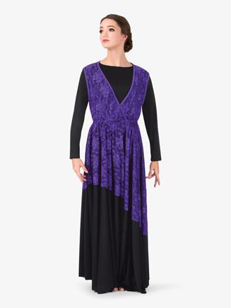 Womens Lace Overlay Worship Dress - Style No BT5191x
