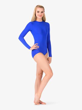 Womens Boatneck Long Sleeve Leotard - Style No BT5193