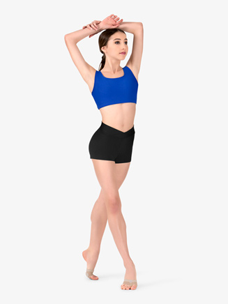Womens Team Basic Compression V-Front Dance Shorts - Style No BT5204