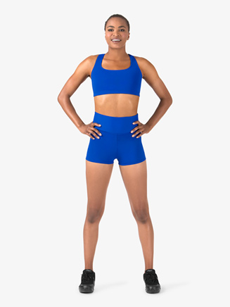 Womens Team Basic Compression High Waist Dance Shorts - Style No BT5205