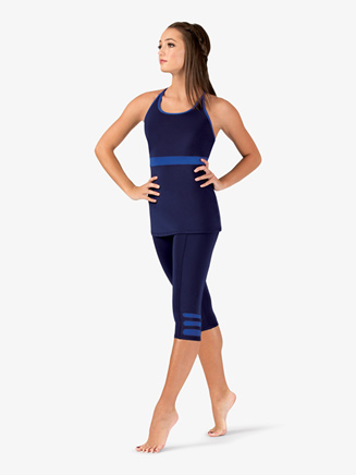 Womens Plus Size Team Two-Tone Compression Leggings - Style No BT5215P