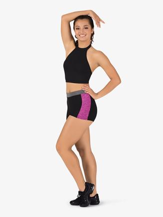 Womens Team Three-Tone Compression Shorts - Style No BT5217