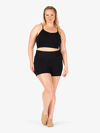 Womens Plus Size Team Contrast Compression Shorts - Style No BT5223P