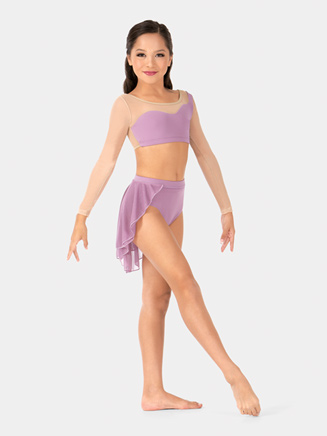 Girls Mesh Pull-On Half Skirt - Style No BW1114