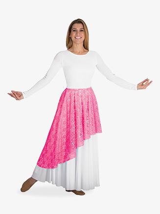 Adult Worship Asymmetrical Lace Skirt - Style No BW627
