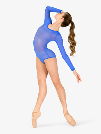 Womens Performance Mesh Long Sleeve Leotard - Style No BW8211