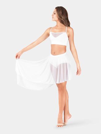 Adult Asymmetrical Hem Mesh Skirt - Style No BW9107