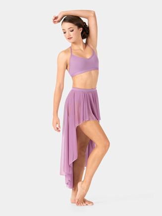 Adult Drapey Mesh Hi-Lo Performance Skirt - Style No BW9112
