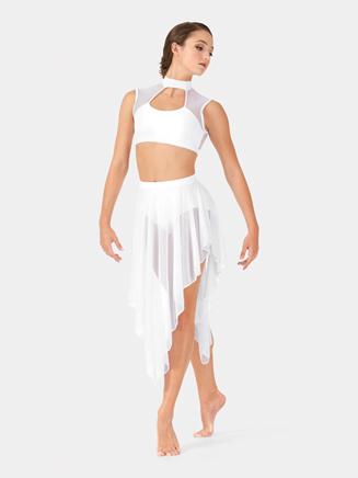 Adult Mesh Hi-Lo Performance Skirt - Style No BW9113