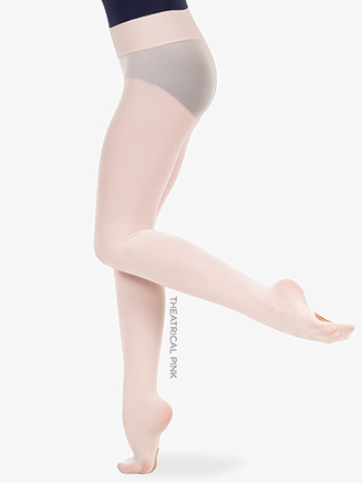 Girls Wide Smooth Waist Convertible Dance Tights - Style No C41