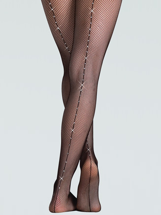 Girls Rhinestone Fishnet Dance Tight - Style No C64