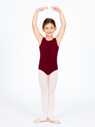 Girls High Neck Tank Dance Leotard - Style No CC201C