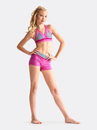 Girls Mini Stripe Short - Style No CKB151x