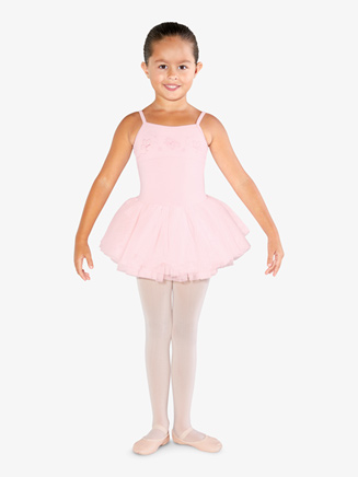 Girls Embroidered Camisole Ballet Tutu Dress - Style No CL3567