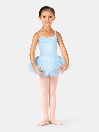 Child Camisole Ruffle Trim Tutu Dress - Style No CL7120